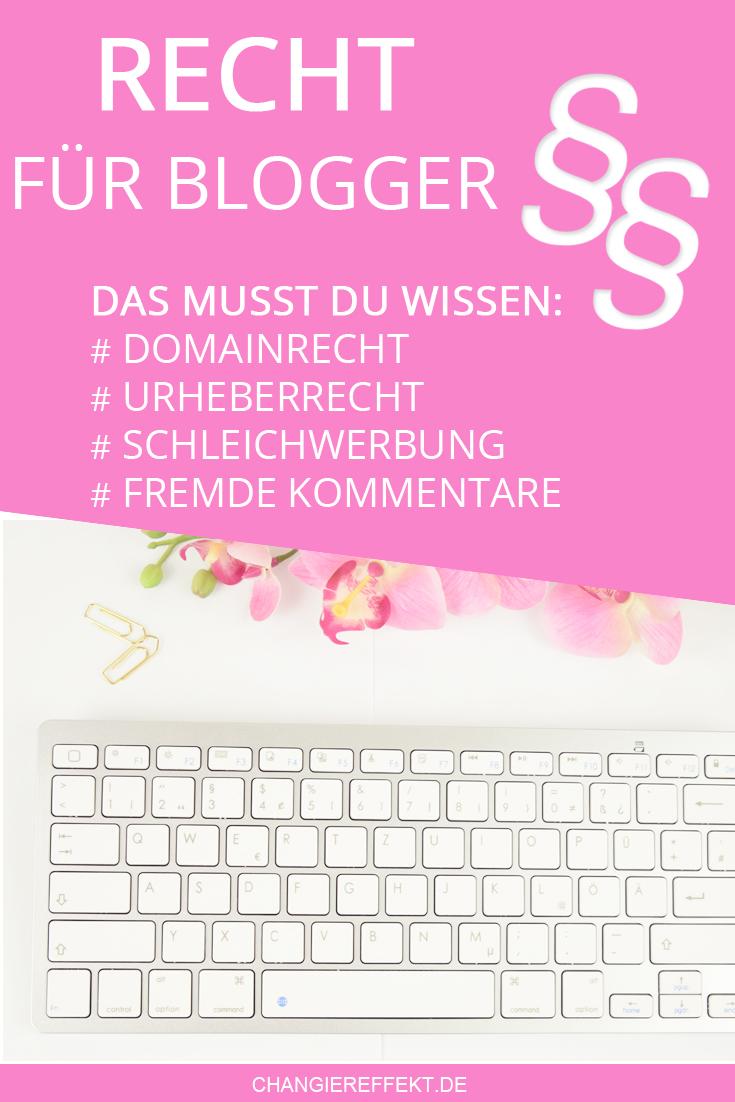 Rechtsgrundlagen beim Bloggen
