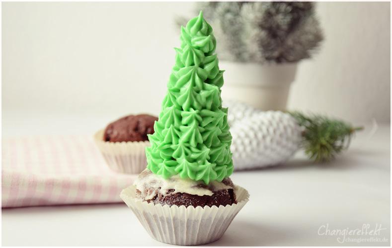 Weihnachtsbaum-Cupcakes-Rezept