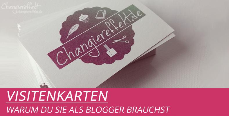 Braucht ein Blogger Visitenkarten?