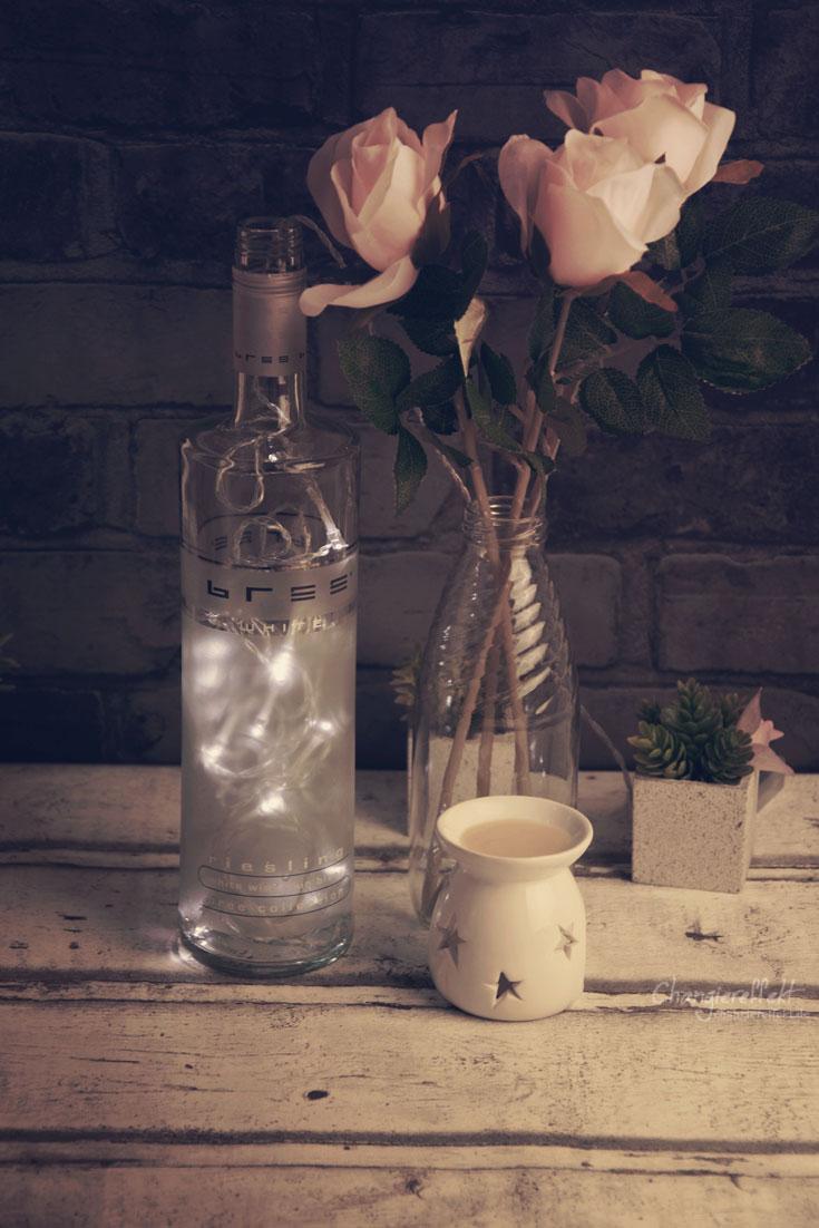DIY Lampe aus Flaschen