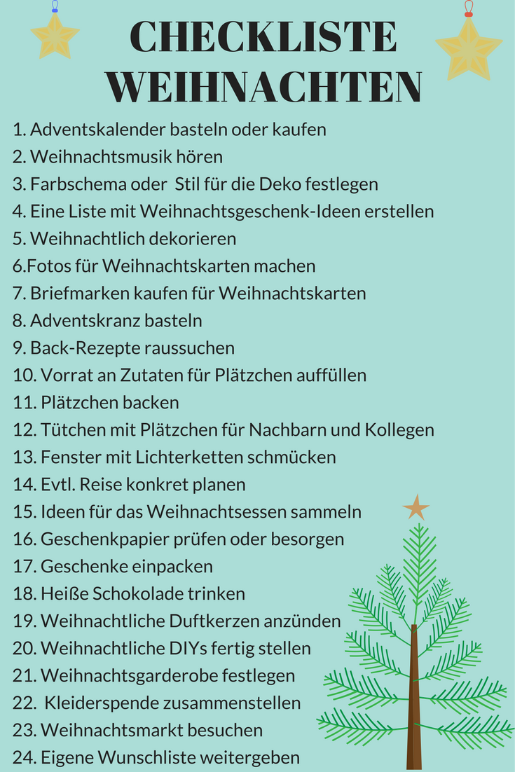 Weihnachtscheckliste Checkliste Weihnachten To Do Liste-Facebook